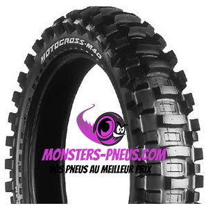 Pneu Bridgestone Moto Cross M40 2.5 0 10 33 J Pas cher chez Monsters Pneus